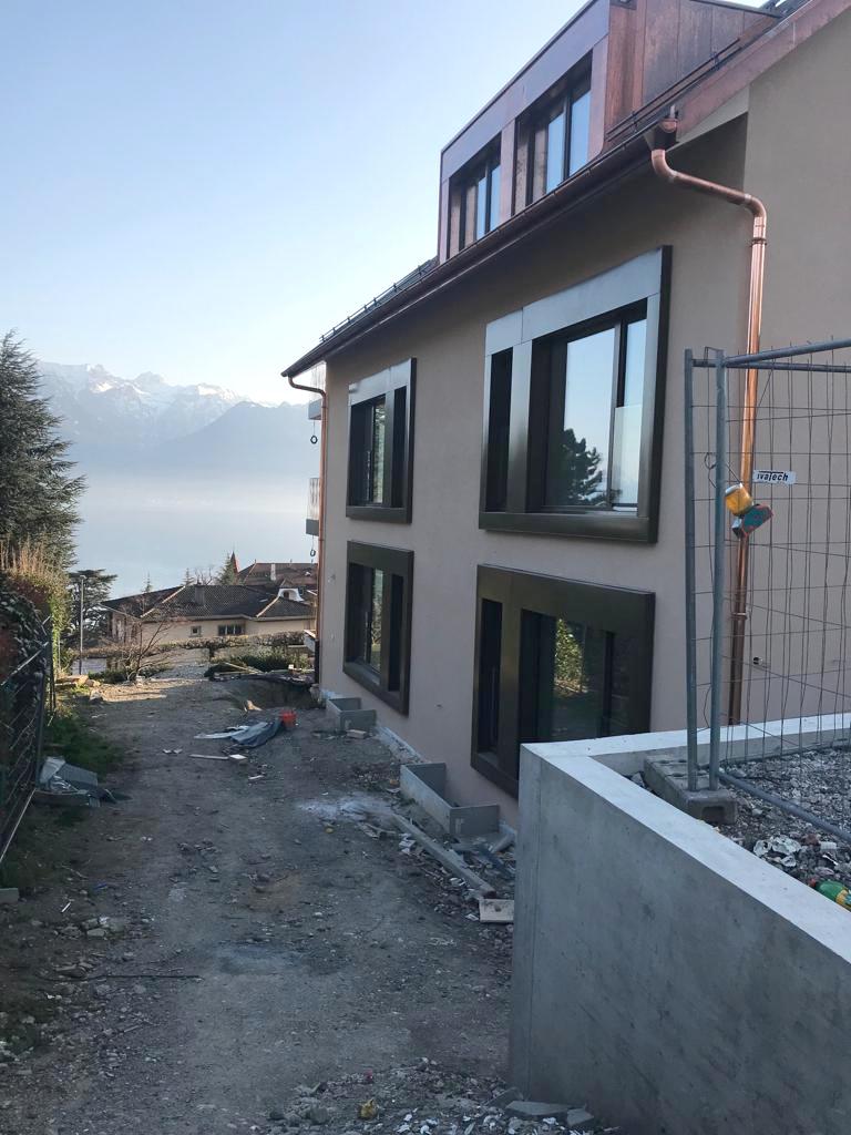 démolition et construction d'un immeuble de 3 appartements à corseaux - vaud - fenêtres