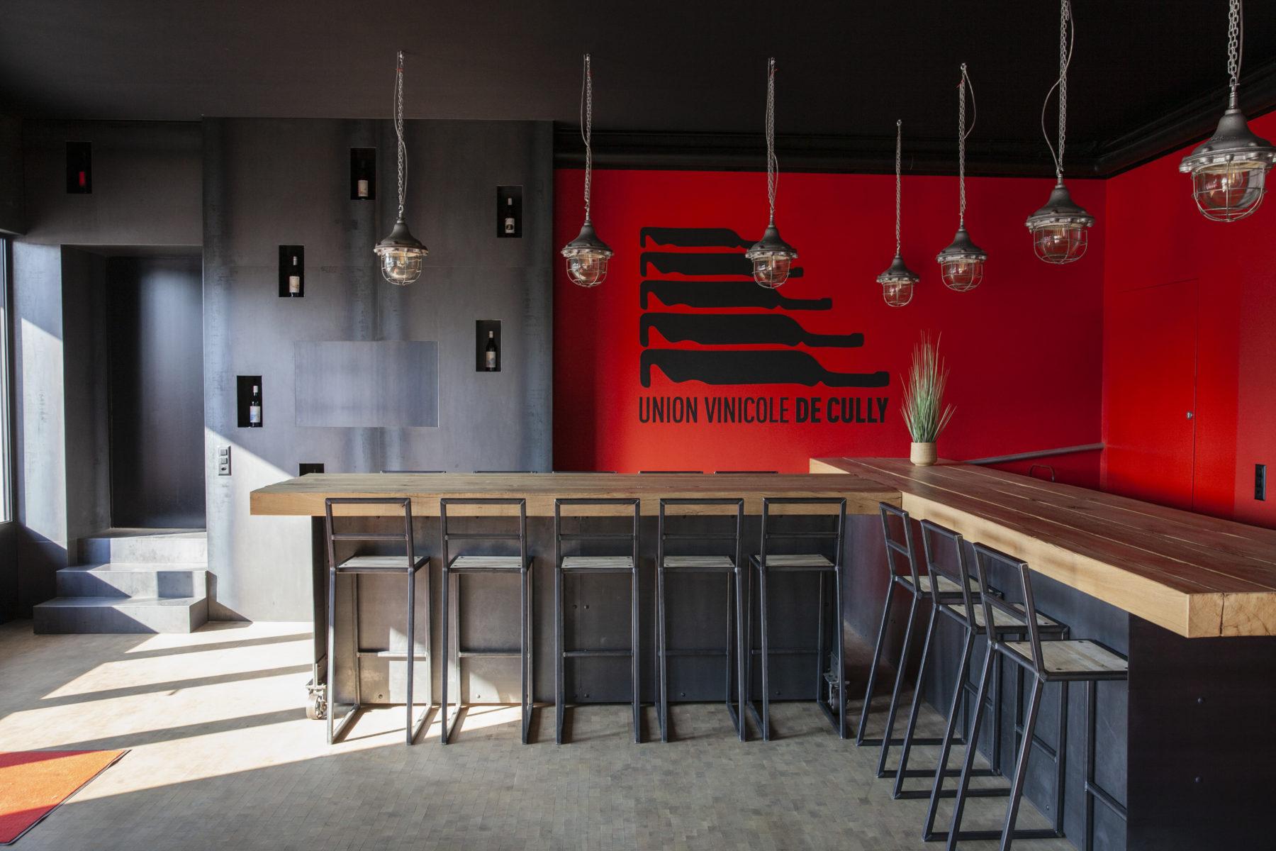 transformation et agrandissement d'une cave à Cully - Vaud - bar