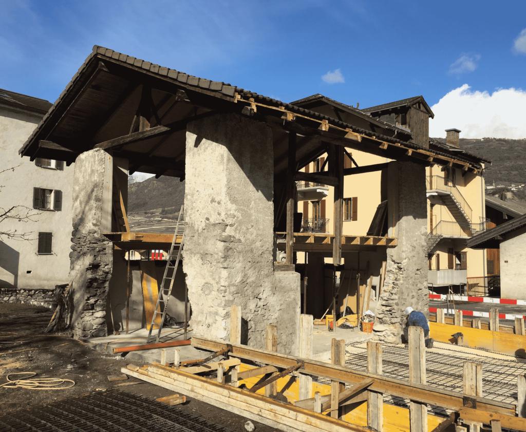 chantier démolition grange